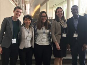 Sarah Low and four grad students